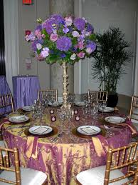... Fetching Images Of Purple Table Setting Decoration Design Ideas :  Exciting Picture Of Purple White Wedding