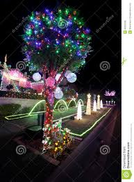 xmas lighting decorations. Download Magical Xmas Lights Decorations On Home At Christmas Holidays Editorial Stock Photo - Image Of Lighting