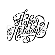 happy holidays black and white card. Wonderful White Black And White Calligraphic Happy Holidays Hand Writing Inscription For  Greeting Cards Vector Illustration  Stock Vector Colourbox To And White Card P