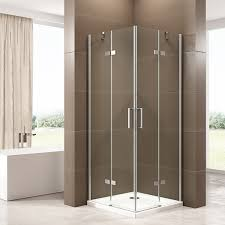 corner shower enclosure ex809 frameless 6mm tempered glass nano coating 90 x 90 x 195 cm