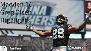 Madden 16 Greg Olsen Highlights - YouTube