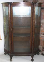 curved glass curio cabinet.  Cabinet With Curved Glass Curio Cabinet N