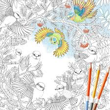 Coloring Page Instant Download Paradise Birds