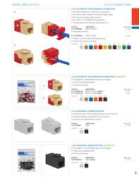 icc catalog 5 5 work area outlets cat 6 connectors