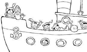 Sinterklaas Boot Kleurplaat