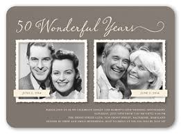 then and now 50th anniversary invitation