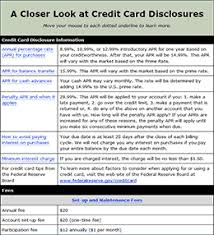 Credit Card Release Form Credit Card Disclosure Statement Explained Education Resources