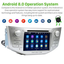 android 8 0 in dash dvd gps system for 2004 2010 lexus rx 350 with bluetooth