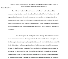 Essay On The Civil War To What Extent Was The Victory Of The North In The United States