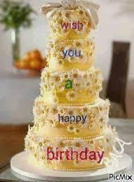 Beautiful Happy Birthday Cake Gif