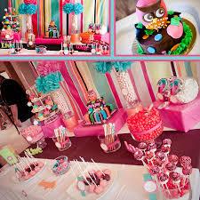 owl birthday table decor