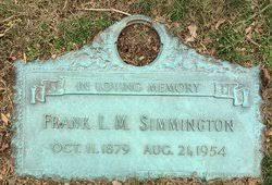 Photos of Frank Lacy Morton Simmington - Find A Grave Memorial