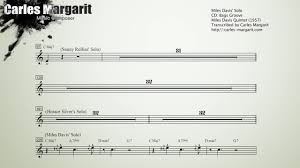Oleo Miles Davis Bb Transcription Transcribed By Carles Margarit