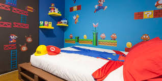 Mario Bedroom Wallpaper Warp To Another World In The Super Mario Bros Themed Airbnb
