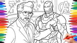 Image not available for color suitable for gifts, bedroom decoration, home theatre decoration, wall decoration, kid's bedrooms, office desks and parties. Iron Man Tony Stark Coloring Pages Coloring Avengers Superheroes Avengers Infinity War Youtube