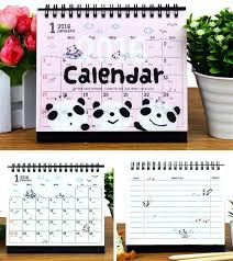 15 15 5 cm 2016 brand new cartoon animals print standing desk calendars creative diy colorful