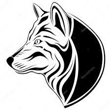 Wolf Tetování Stock Vektor Flanker D 2900586