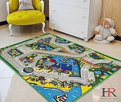 kids car road rugs city map play mat for classroom baby room non slip