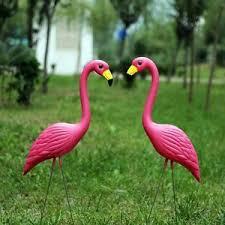 garden flamingos. Plain Garden Image Is Loading 2PinkFlamingosPlasticYardGardenLawnArt Throughout Garden Flamingos E