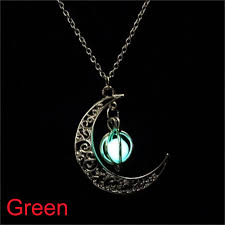 moon glowing pumpkin pendant necklace glow in the dark necklaces