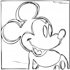 Small Picture Mickey Mouse By Andy Warhol coloring page picture Super