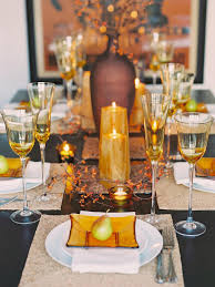 Buffet Table Decorations Ideas Glittering Fall Table Setting And Centerpiece Ideas Hgtv