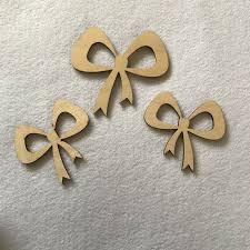 wooden craft shapes ribbon bows