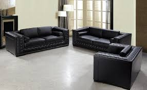leather sofas and chairs. Wonderful And Black Leather Sofa Set HE707 Inside Sofas And Chairs I