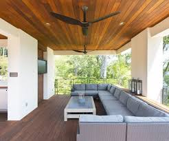 photo 5 of 5 outdoor patio ceiling fans patio contemporary with deck ideas gray cushions haiku fan delightful ceiling