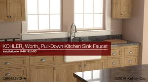 kitchen sinks and faucets. Installation - Worth Pull-Down Kitchen Sink Faucet Sinks And Faucets
