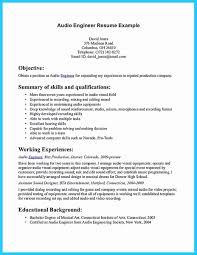 Studio Recording Engineer Sample Resume Sound Engineer Resume Sample Inspirational Audio Engineer Resume 13