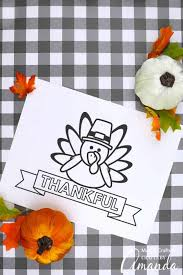 The article features happy thanksgiving signs, thanksgiving dinner, native american people, and thanksgiving harvest coloring sheets for kids of all ages. Thanksgiving Placemats Printables Crafts By Amanda