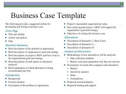 Simple Business Case Templates Simple Business Case Examples Business Mentor