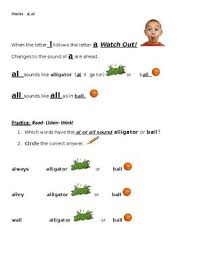 Esl phonics & phonetics worksheets for kids download esl kids worksheets below, designed to teach spelling, phonics, vocabulary and reading. Al And All Phonics Worksheets Teaching Resources Tpt