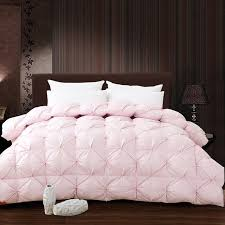 twin goose down comforter. Brilliant Down White Pink Grade A Natural 95 Goose Down Comforter Twin Queen King Size  750FP Quilt With W