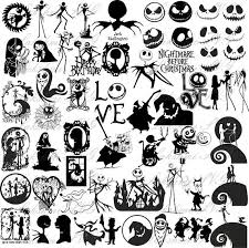 57 Nightmare Before Christmas Silhouette Svg Files For Cricut Eps Dxf Png Jack Skellington Silhouette Christmas Nightmare Before Christmas Nightmare Before