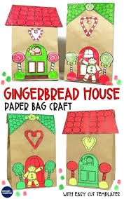Gingerbread House Craft Gingerbread House Craft 2 Gingerbread House