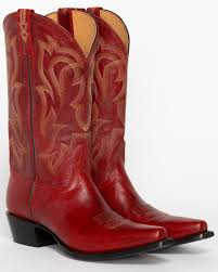 zoomed image shyanne 12 red leather snip toe western boots red