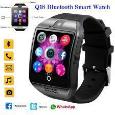 Sıcak 2018 Q18s Bluetooth Akıllı Saat Destek 2G GSM SIM Kart Ses Kamera  Için Fitness Tracker Smartwatch Android IOS Cep Telefon Dijital Saatler -  M.shareadvices.news