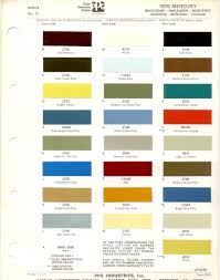 1970s Ford Paint Charts Retro Rides