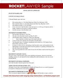 Small Estate Affidavit Form - Affidavit Of Small Estate Sample