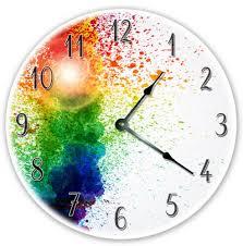clocks 12 splatter paint artistic