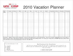 Vacation Calendar Templates Holiday Schedule Template Free