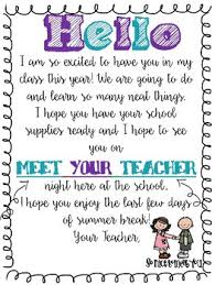 Student Welcome Letter Worksheets Teaching Resources Tpt