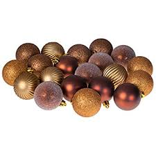 20 Piece Gold and Bronze Christmas Ornament Ball Set by Clever Creations |  Festive Holiday Dcor