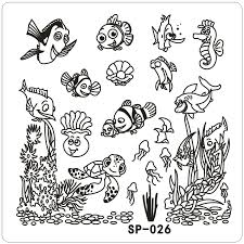 Clown fish Underwater font b Word b font Cartoon Stamping nail art kit font b Template popular word templates buy cheap word templates lots from china on book report template download word