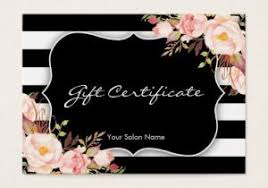 Boutique Gift Certificate Template Pre Made Gift Card Template Spa