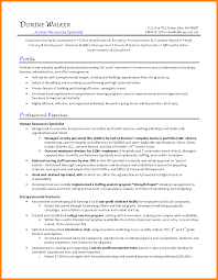 Hr Generalist Resume Human Resources Sample India Objective