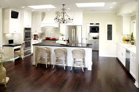 terrific galley kitchen design comes with rectangle shape white kitchen island with black top and white color wooden kitchen cabinets