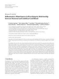 Preeclampsia Protein Levels Chart Inflammatory Disturbances In Preeclampsia Relationship